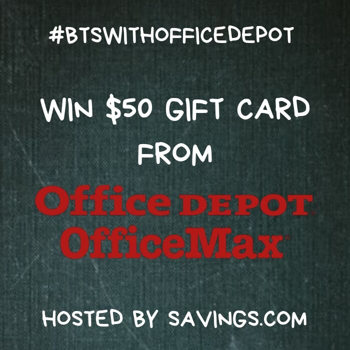 Win A $50 Office Depot/Office Max Gift Card For Back To School Supplies!