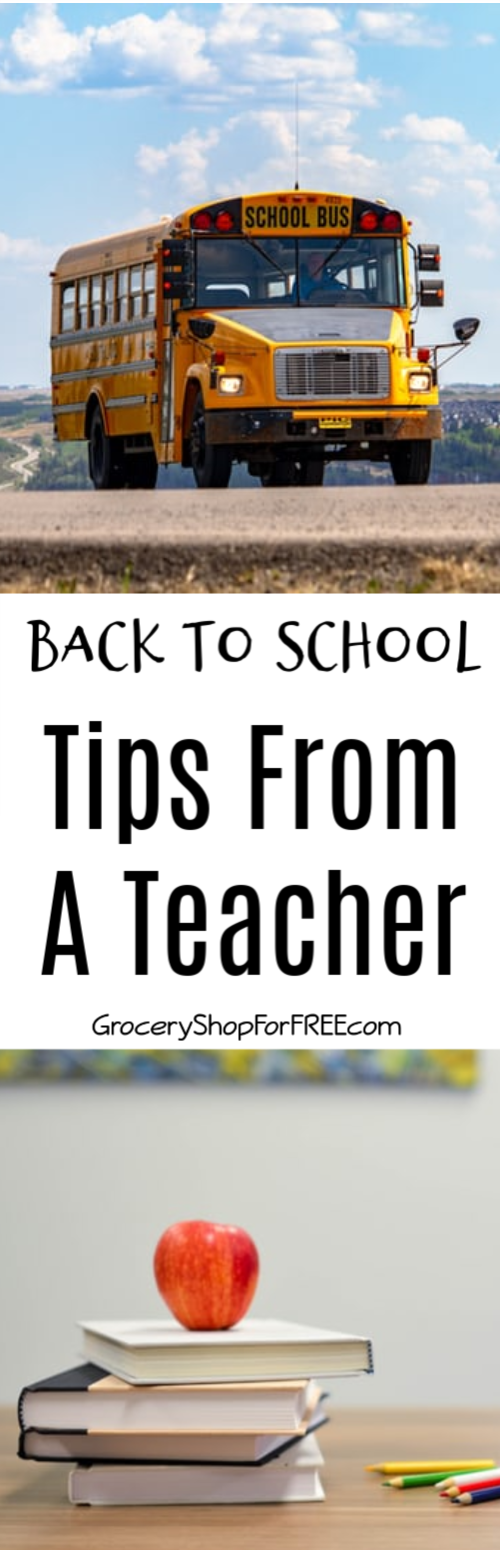 Who better to share back to school tips than a teacher?  Check out these tips to help you and your child be ready for the new school year.