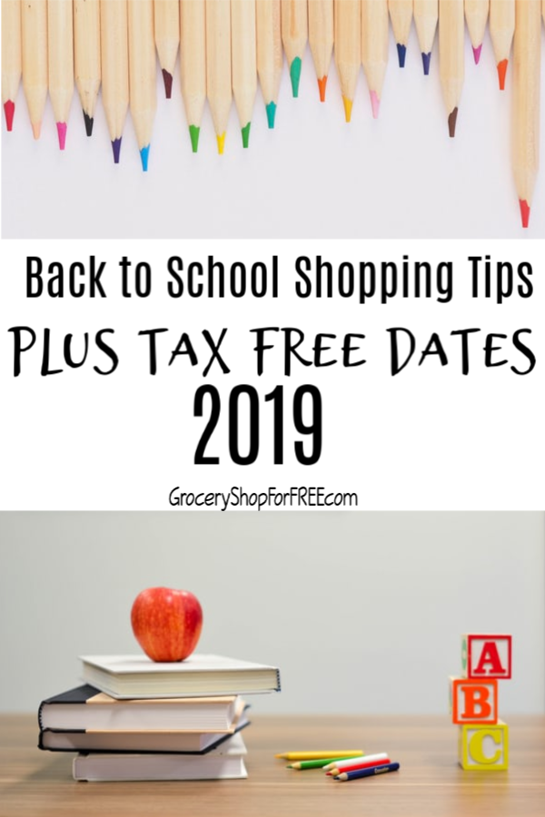 If you're looking for back to school shopping tips and the dates for the 2019 tax free weekends, then this is what you're looking for.  Come and check it out.,