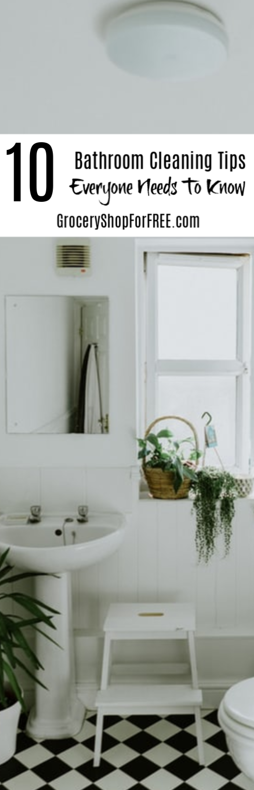 Are you looking for an easier way to get ad keep your bathroom clean? Look no further, these 10 Bathroom Cleaning Hacks will have it sparkling in no time. Click to get started.