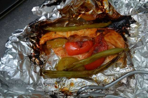 Barbecued Chicken And Veggie Packets