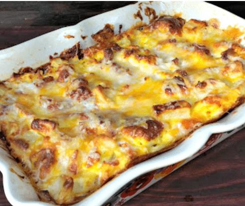 Cheese Bacon And Potato Breakfast Casserole