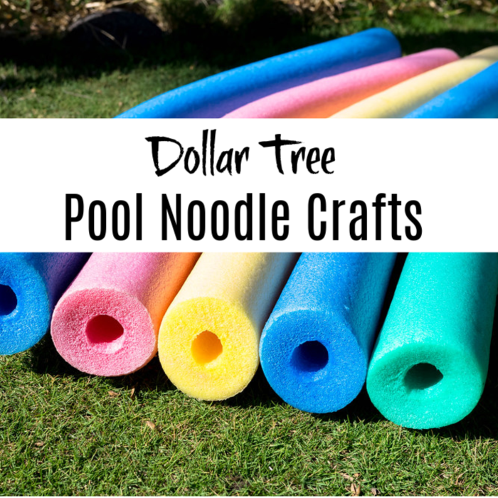 Looking for some fun inexpensive crafts to do with your kids?  How about theses pool noodle crafts with items from Dollar Tree? Click through to see more.