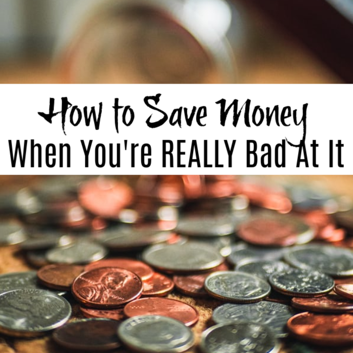 Do you need to learn How to Save Money When You're REALLY Bad at It? Well, you've come to the right place!  Click through to read the tips and tricks to get started.