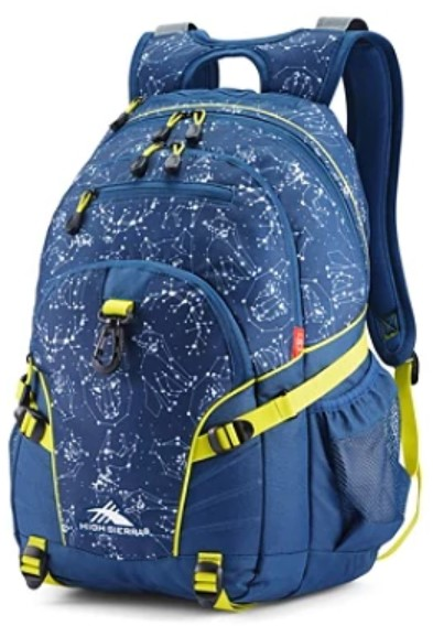 High Sierra Space Creatures Loop Backpack, Rustic Blue Glow - $27.49