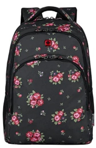 "Wenger® Upload Backpack With 16"" Laptop Pocket, Black Floral - $44.99"