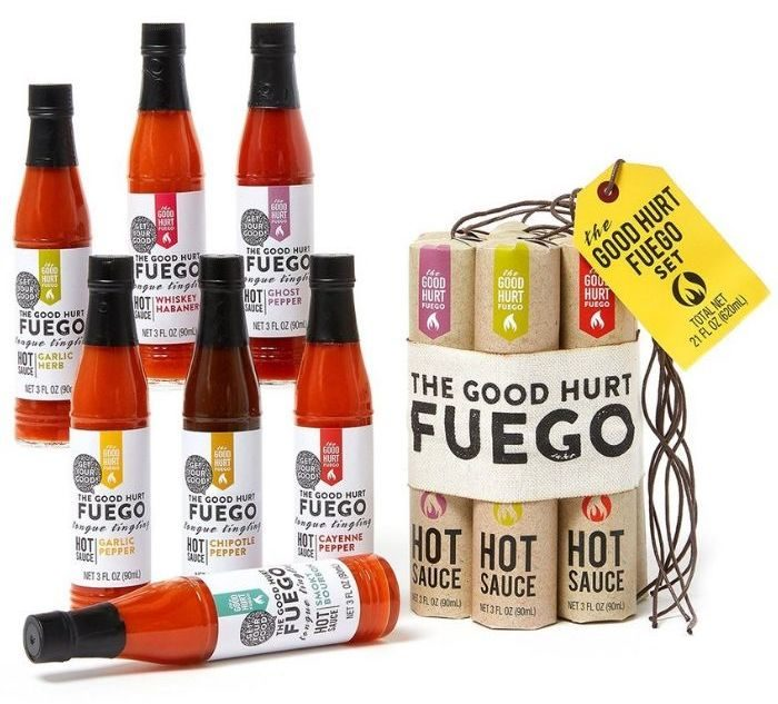 Thoughtfully The Good Hurt Fuego: A Hot Sauce Gift Set for Hot Sauce Lover's Sample Pack