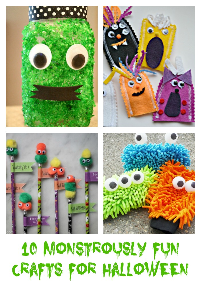 10 Monstrously Fun Crafts For Halloween