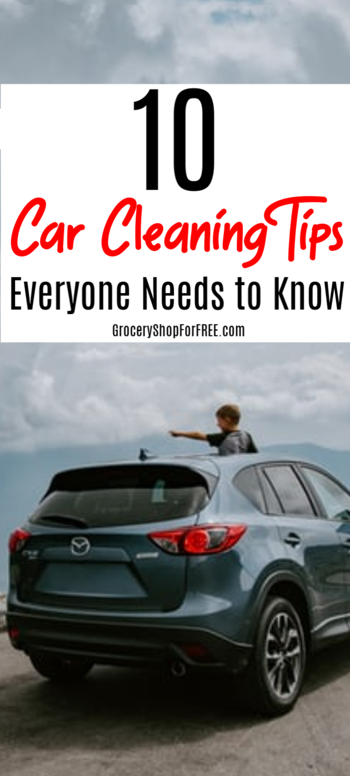 Are you looking for ways to keep your car clean and organized?  These 10 Car Cleaning Tips Everyone Needs To Know will do just that!  Click through to find out more...