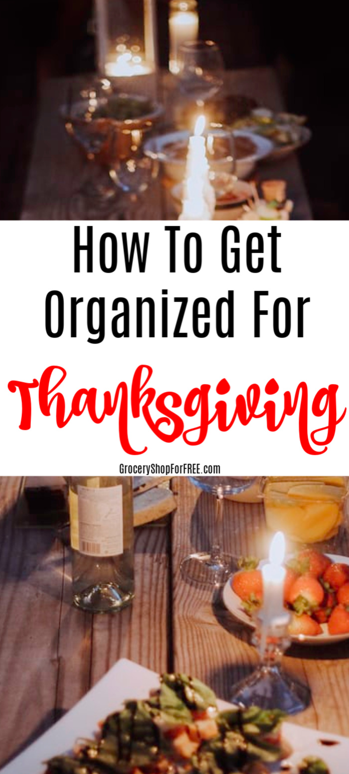 If you're looking for ways to get organized for Thanksgiving, then this is for you. You can rest assured following these tips will help you have a perfectly organized and relaxed Thanksgiving celebration.  Click through to get started..