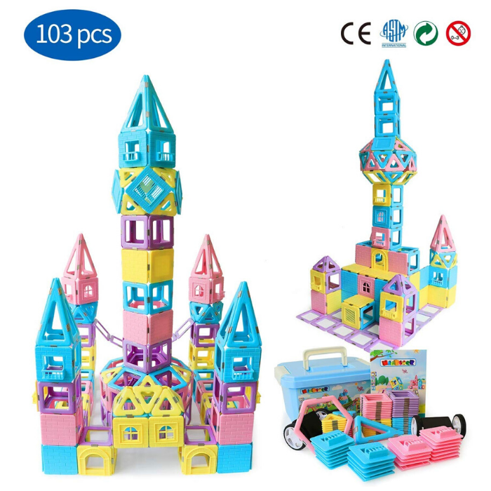 Magnetic Building Blocks STEM Tiles Set