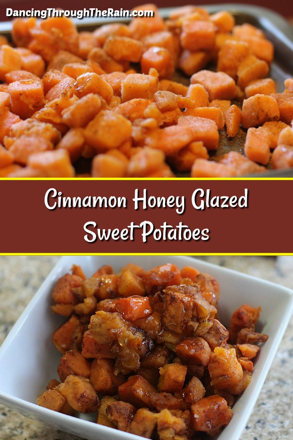 Cinnamon Honey Glazed Sweet Potatoes