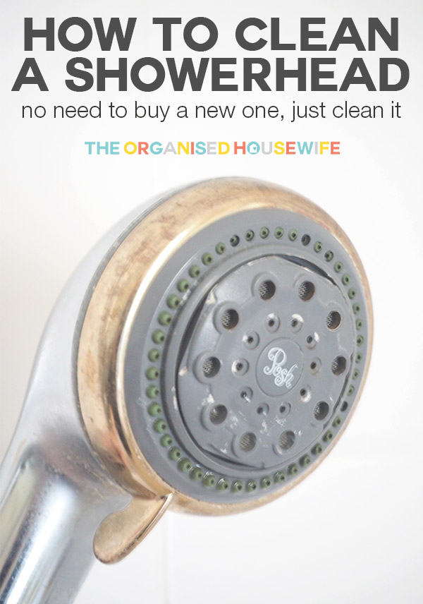 How to clean a shower head