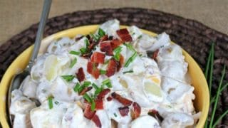 Loaded Potato Salad with Bacon recipe