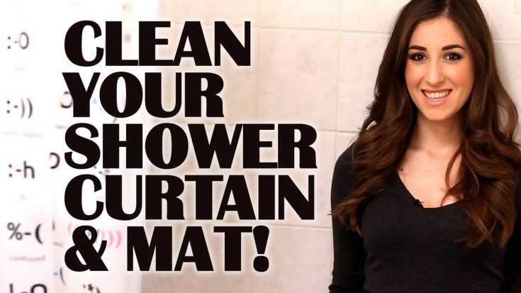 How To Clean A Plastic Shower Curtain & Mat