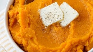 Pressure Cooker Mashed Sweet Potatoes
