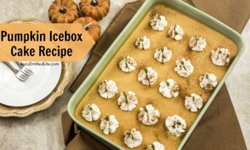 Pumpkin Icebox Cake Recipe