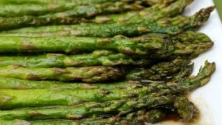 Roasted Asparagus with Balsamic-Butter Sauce recipe