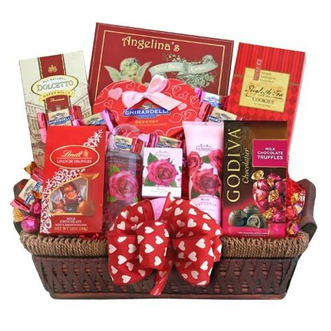 Organic Stores - Something for Her Deluxe Romantic Spa Gift Basket | Valentines Day Gift
