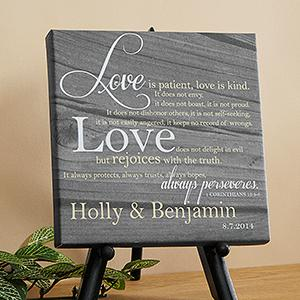 Personalization Mall - Valentine's Day Gifts - Personalized Desktop Canvas Prints - Love Is Patient
