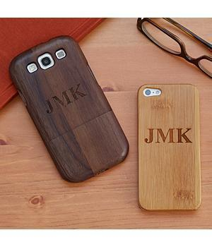 Personal Creations - Personalized Valentine's Day Gift For Him Wood Cell Phone Case