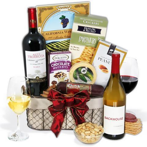 GourmetGiftBaskets.com - Wine Party Picnic Gift Basket - Ravenswood Duo