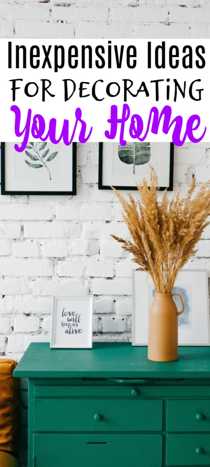 If you're looking for a way to freshen up a few rooms while not breaking the bank, then these ideas for redecorating your home are just what you're looking for.  Click through to check them out now...