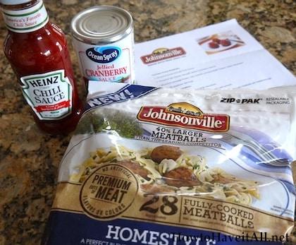 Ultimate Party Meatballs Recipe + Johnsonville Meatballs