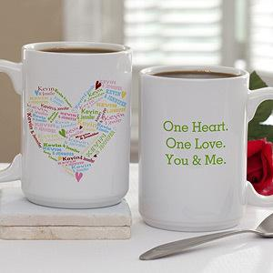 Personalized Large Romantic Coffee Mugs