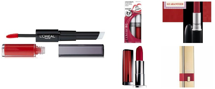 Gorgeous Red Lipsticks for Valentine's Day!