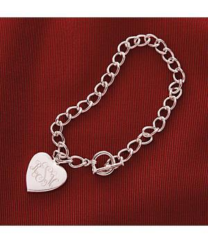 Personal Creations - Personalized Heart Charm Bracelet - Valentine's Day Gift For Her