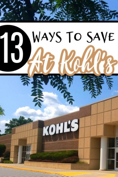 13 Ways To Save At Kohl's