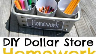 Keep your kids homework supplies organized with this hack!
