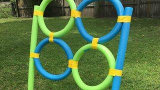 DIY Pool Noodle Frisbee Target