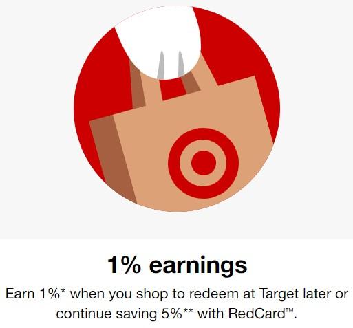 Target Circle Target Cartwheel 1% Earnings