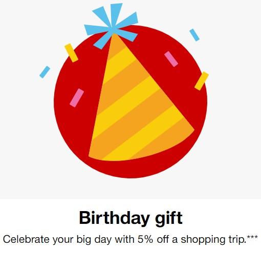 Target Circle Target Cartwheel 5% off shopping birthday gift
