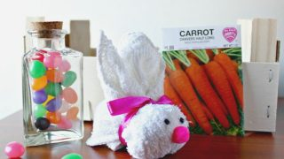 Easy Easter Crafts: Washcloth Bunny