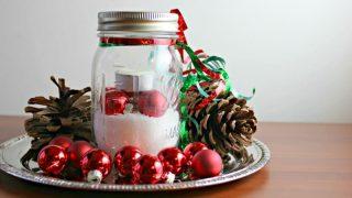 Easy Last Minute Christmas Decor Idea for Tables