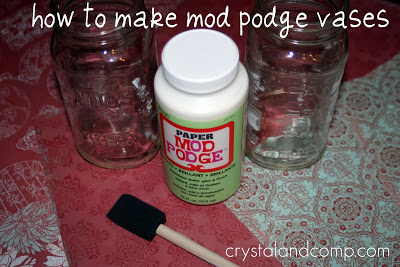 How to Make a Mod Podge Vase
