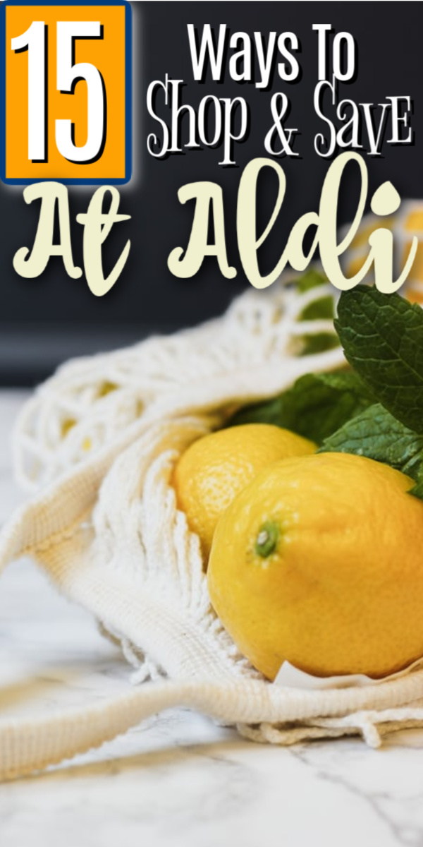 If you're looking for ways to trim your grocery bill, then you'll definitely want to check out these 15 ways to shop and save at Aldi!  Click through NOW to get started...