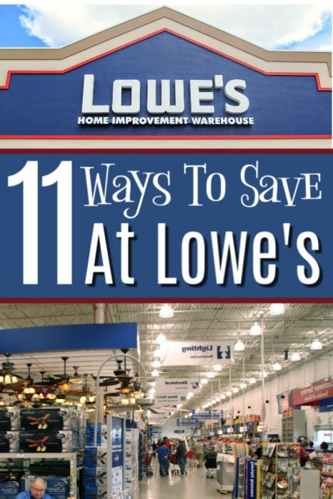 11 Ways To Save At Lowe's