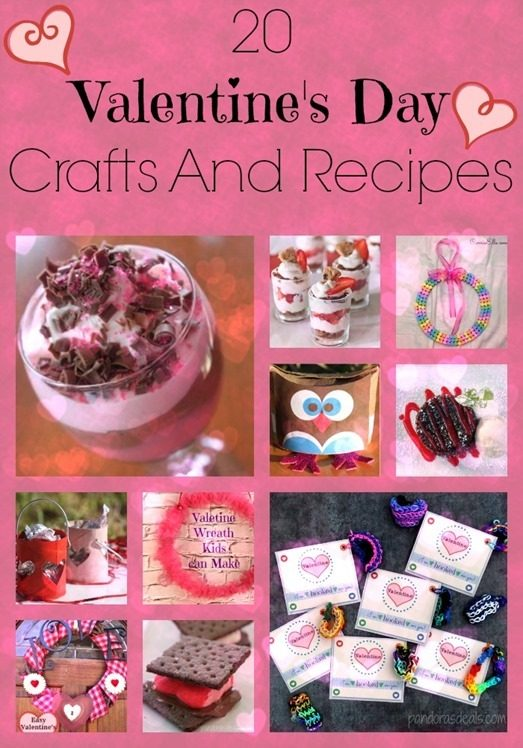 Looking for new ways to add to spice up Valentine's Day? These 20 Valentine's Day Crafts and Recipes are what you need.  We have you covered for kids or adults!