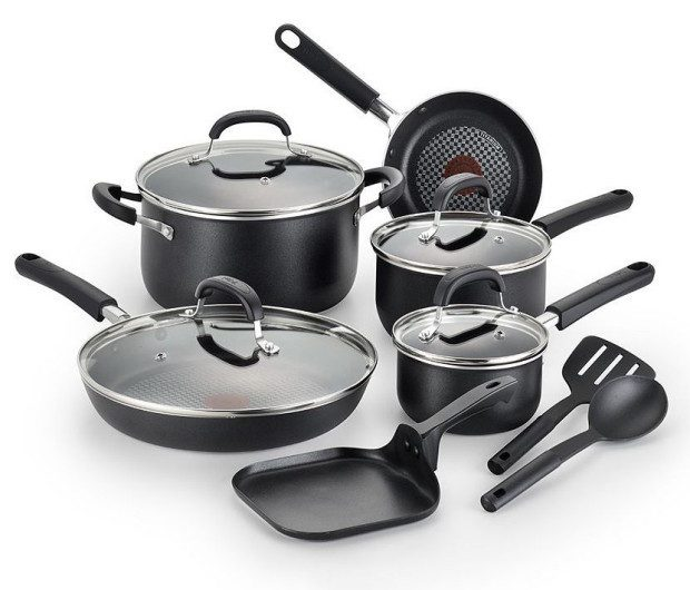 T-Fal OptiCook 12-pc. Nonstick Cookware Set Only $64.99! (Reg. $180!)