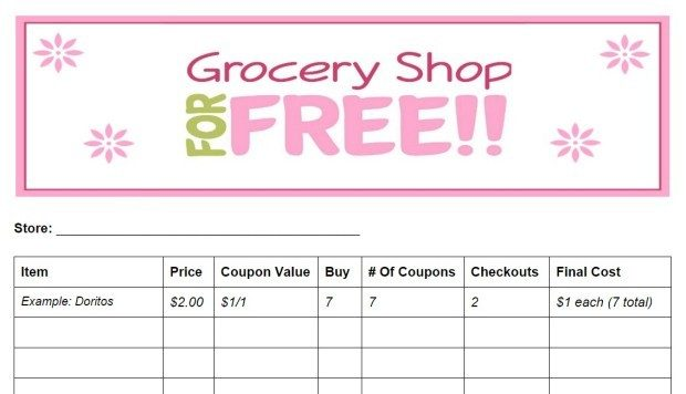FREE Grocery Coupon Shopping List Printable Tutorial