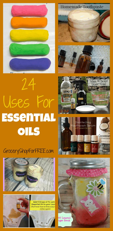 24 Uses For Essential Oils Recipe Guide
