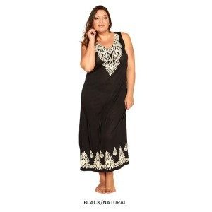 Plus Size Cotton-Blend Garden Floral Maxi-Dress Only $26 Plus FREE Shipping!