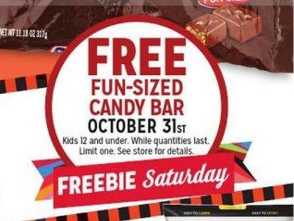 FREE Candy Bar At Kmart On Halloween!