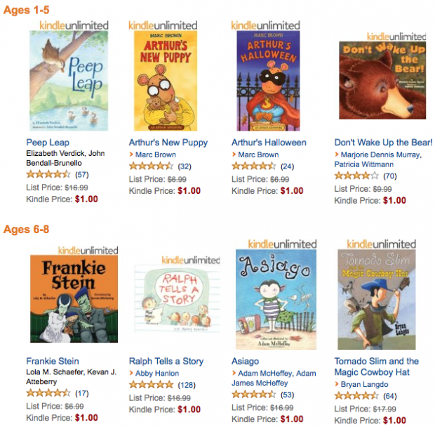 30 Kids' eBooks Only $1 Each!