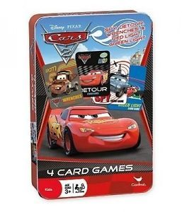 Disney Pixar Cars 4-Card Games in Tin Box Just $3.99! Down From $17!