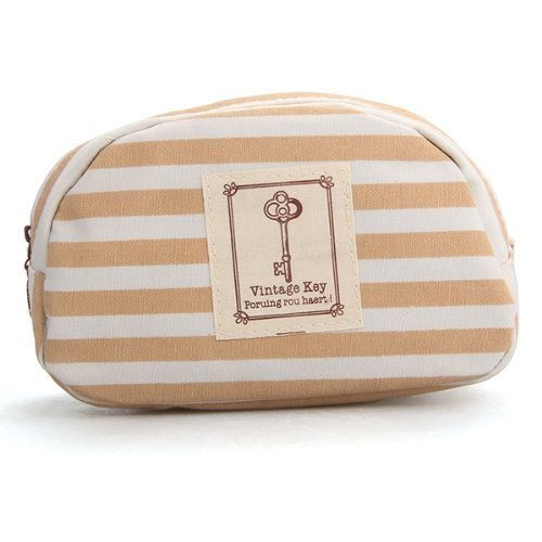 Marine Stripe Khaki Cosmetic Pouch Only $2.82 Shipped!